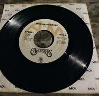45 RPM record carpenter's/ this masquerade,please mr. Postman