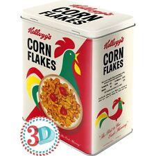 Scatola in Latta Kellogg's Corn Flakes Cornelius 10 X 14 X 20Cm.