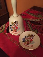 Disney Christmas 1983 Bell and Plate collectible
