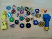 Massive Beyblade Metal Fusion 4D lot collection Including String launchers Grip
