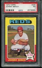 1975 Topps Baseball #260 JOHNNY BENCH Cincinnati Reds PSA 7 NM