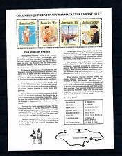 [50044] Jamaica 1989 Columbus The Fairest Isle MNH Sheet
