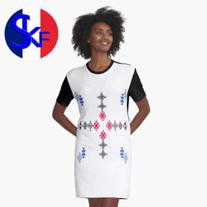 Robe T shirt kabyle berbère Amazigh tatouages kabyles t-shirt haute qualité