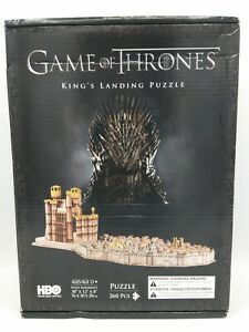 """Game of Thrones 3D Puzzle of King's Landing 260 Pieces 30""""x12""""x8"""" HBO NIB NEW"""