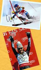 Mikaela shiffrin - 2 top autógrafo-imágenes (14) Print copies + ski ak firmado
