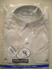 Worksense  Mens/boys Long Sleeve mini twill shirt XXS 32/33 BEIGE  free post
