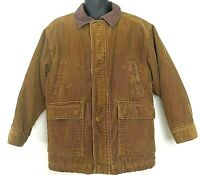The Childrens Place Boys XS 4 Corduroy Jacket Brown Beige Sherpa Line Barn Coat
