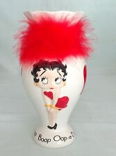 Betty Boop Oop A Doop White Flower Vase with Red Feathers Pacific KFS Hearst FS