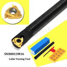 SNR0013M16 Lathe Turning Boring Bar Holder+10Pcs 16IR(3/8'')AG60 Insert +Spanner