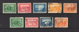 USA 1913-15 Pan-Pacific perf 12 & 10 Sets - Used - SC# 397-404 Cats $153.00