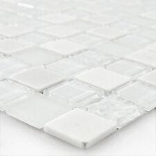 Muster selbstklebende Mosaik Naturstein Glas Mix WEISS
