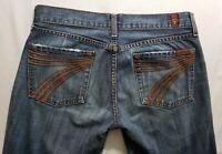 7 for All Mankind Dojo Womens Denim Blue Jeans Size 28 x 32 Wide Leg Medium Wash