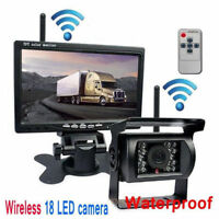 "7"" LCD Moniteur Car Rear View Kit +IR LED sans fil Caméra de recul Bus Truck Van"