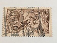 GREAT BRITAIN SCOTT 179 HALF CROWN STAMP CANCELLED