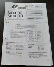 Service Manual Sansui MC-1000 MC-1000L
