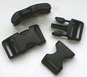 5 x Klickverschluss Steckschließer gekrümmt, 20mm, Nylon, National Molding