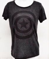 Licensed Marvel Captain America Womens Juniors X-Large Grey T-Shirt  XL