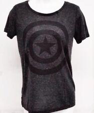 Licensed Marvel Captain America Womens Juniors Medium Grey T-Shirt