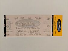 Foo Fighters Full Concert Ticket Worchester Ma 11/8/2000