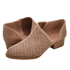 7a1c90a61f60 Women s Shoes City Classified DECADE-S Perforated Ankle Booties DARK BLUSH   New