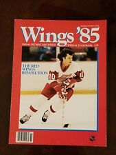 Detroit Red Wings Official Yearbook 1985-86 Hockey NHL Duguay Cover