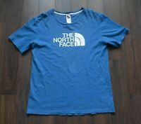 *** The North Face T Shirt Logo Blue Size M *F0711a4
