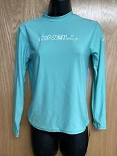 "New O'Neill ""Youth Skins Long Sleeve Crew"" Youth Girl's size 12 Rash Guard Swim"