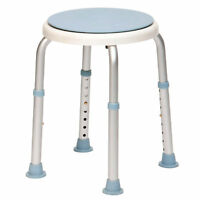 Round Bath Shower Stool with Swivelling Rotating Seat with Adjustable Height.