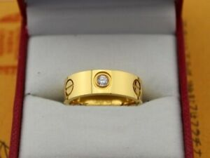 Cartier 18K Yellow Gold Diamonds Love Ring