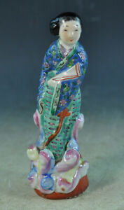 Vintage Chinese Porcelain Statue Of Lady With Marked