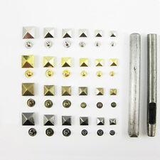 Pyramid Studs Rivet Nailhead Spike Square Leather Craft DIY Rock Punk Press Tool