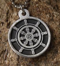 Dharmachakra Pendant Wheel of Law Dharma Wheel Necklace