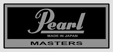 vintage Pearl 'Masters' type vinyl shell badges - EIGHT COPIES (self adhesive).