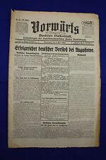 VORWÄRTS (1. April 1915): Erfolgreicher deutscher Vorstoß bei Augustowo