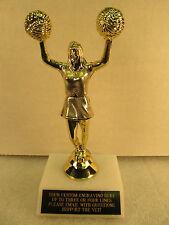 "Cheerleading Trophy Award Pon Pon 7"" Free Engraving Shipped 2 Day"
