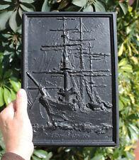 Italian Sailing Ship Amerigo VESPUCCI, cast iron, 305x215mm