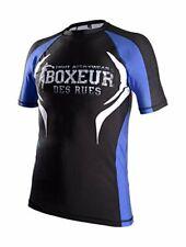Boxeur Des Rues Herren T-Shirt Fight Activewear da MMA, Uomo, Blau, L