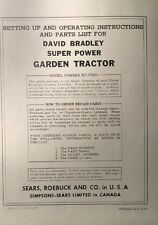 David Bradley Sears 91757561 Garden Tractor Amp Plow Owners Amp Parts 2 Manuals