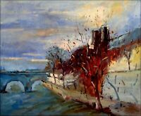 Riverside View, Quality Hand Painted Oil Painting 20x24in