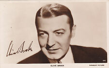 Filmstar Clive Brook Postcard with autograph Movie star