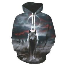 Hoodie Wolf Sweatshirt Galaxy Space Loup galaxie Taille L Size (Asia 2xl / XXL)