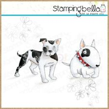 Stamping Bella Cling Stamps Staffie & English Bull Terrier