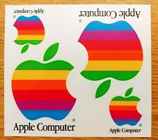 Apple Computer rainbow decal stickers - 4 per card - vintage