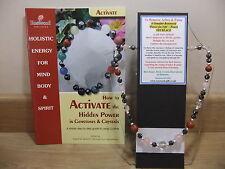 Para eliminar dolores y molestias integral 18 pulgadas Collar de piedras preciosas esotérico además de un libro.