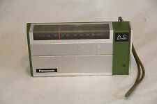 Vintage Panasonic Transistor Radio Model R-1492 AM AC 9V Battery GREEN - WORKS!