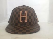 Huf SF Nao New Era Fitted Checkered Print Brown Size 1/4