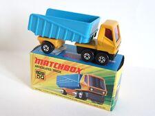 Matchbox Superfast 50b Articulated Dump Truck - 5 SPOKE WHEELS ON CAB - Boxed