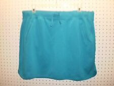 MADE FOR LIFE Misses XL Blue French Terry / Knit SKORT Els Waist FREE Shpg NWTA