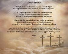 Lawyer's Prayer Sentimental Matted Print Gift 11 x 14