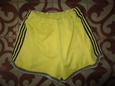 VINTAGE Short ADIDAS jaune Ventex ancien années 80 basket 90 L